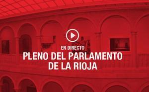 DIRECTO: Pleno en el Parlamento de La Rioja