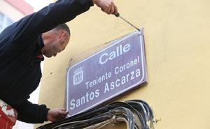 Un familiar de Santos Ascarza lleva a la Fiscalía el cambio de nombre de la calle
