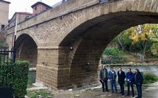 El puente de piedra de Cuzcurrita recupera su esplendor