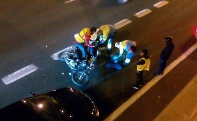Accidente de un motorista en la Circunvalación