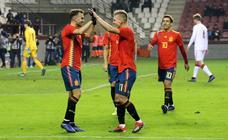 Las jugadas del España-Dinamarca