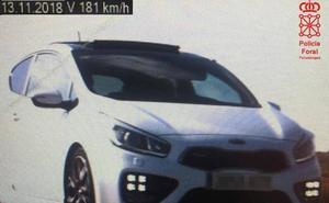 Imputado un calagurritano por conducir a 181 km/h en Navarra