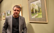 Garrido expone el parque del Cidacos en 34 acuarelas pintadas al natural