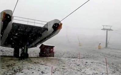 Nieva en Valdezcaray