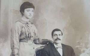La Retina: retrato de boda de dos vecinos de Igea en 1918
