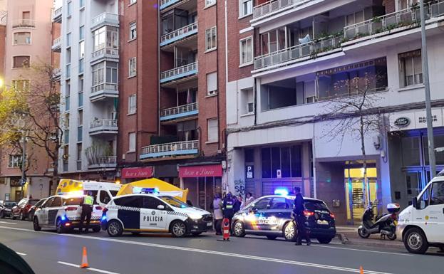 La carpa de emergencias, en Vara de Rey./ J.C.