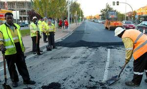 Este martes se reasfalta un tramo de Avenida de Madrid, y un carril será cortado de 8 a 15