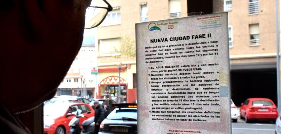 Una colonia de legionela pone de nuevo en alerta a 189 pisos de un bloque de Logroño