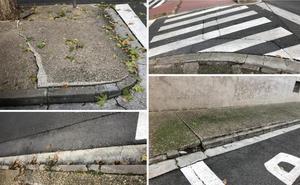 La Guindilla: aceras en mal estado en la calle Rodancha
