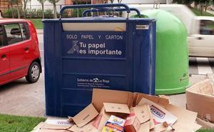 Más contenedores azules por Navidad