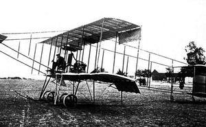 El primer vuelo sobre Logroño