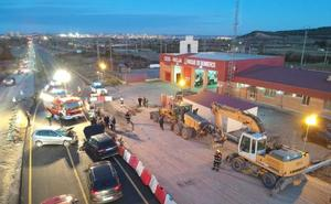 Un hombre y un niño, heridos en un accidente en Calahorra