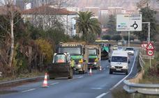 Tráfico lento, pero sin retenciones (de momento) entre Logroño y Villamediana