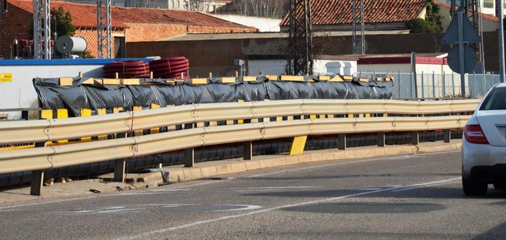 Comienza en Calahorra la reparación de los puentes sobre la autopista
