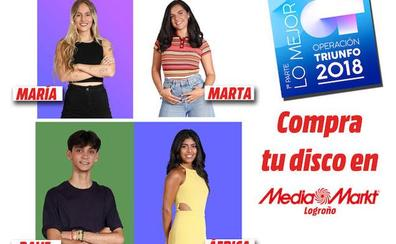 Cuatro concursantes de Operación Triunfo (OT) 2018 firmarán discos en Media Markt Logroño este sábado