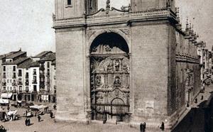 La Retina: vista de la concatedral logroñesa de La Redonda