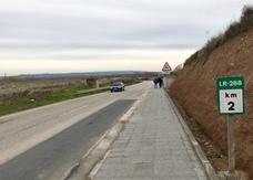 El tramo riojano del Camino Jacobeo del Ebro aumenta su seguridad vial