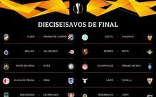 Celtic-Valencia, Lazio-Sevilla, Sporting-Villarreal y Rennes-Betis, en dieciseisavos