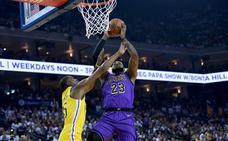 Los Lakers humillan a los Warriors pese a la lesión de LeBron