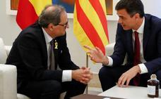 El Gobierno desdeña los 21 puntos que plantea Torra para negociar con Sánchez