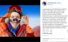 Colin O'Brady, el primer hombre que cruza la Antártida en solitario