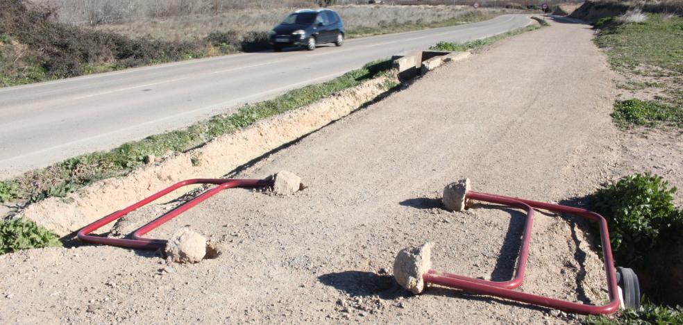 El nuevo tramo del Camino Jacobeo del Ebro sufre de nuevo actos vandálicos