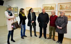 Cáritas organiza una exposición solidaria con cuadros de Espiga