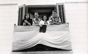 La Retina: cadetes de montaña en Ezcaray en 1951