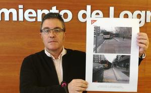 Cs critica que el 10% de las paradas de bus de Logroño «no son accesibles»