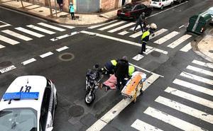 Herido un motorista en un accidente de tráfico en Logroño