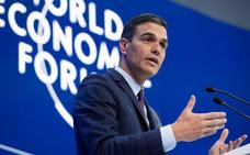 Sánchez sostiene ante Davos que la desigualdad debilita las democracias