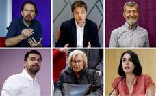 Los protagonistas de la crisis de Podemos en Madrid