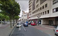 Un motorista herido en la calle Miguel Villanueva de Logroño