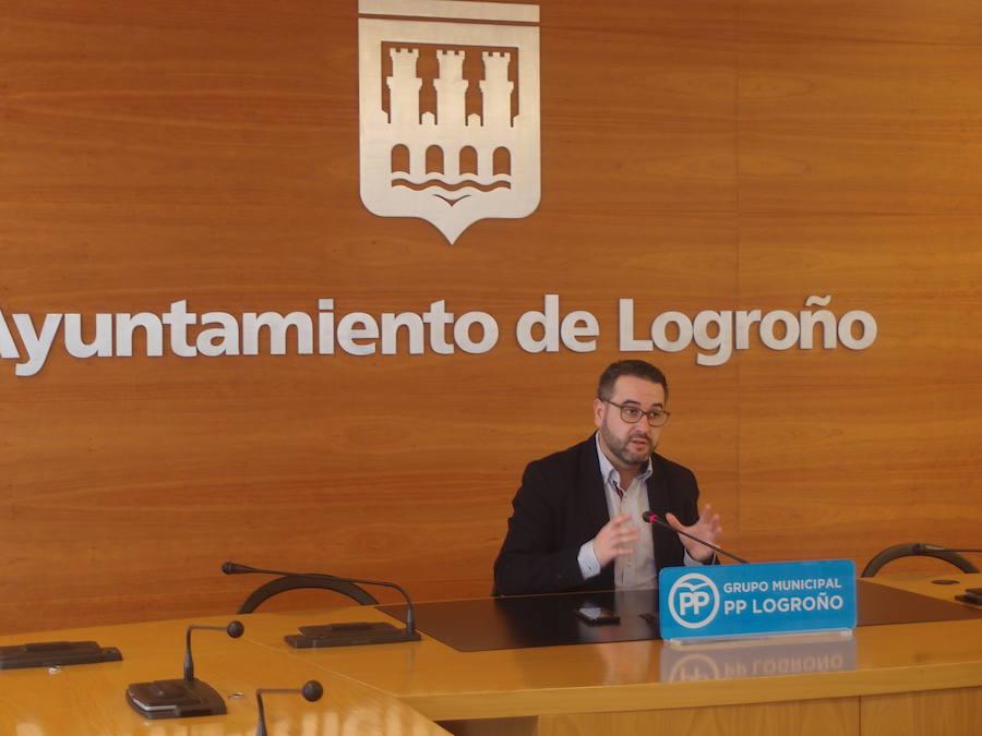 Merino destaca que el paro ha bajado en Logroño un 44% con el PP