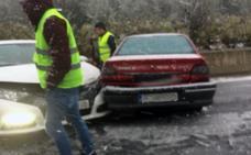 Accidente con tres coches implicados en La Grajera