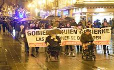 Concentración de jubilados en Logroño y Haro