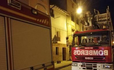 Un incendio en Casalarreina daña la estructura de una vivienda
