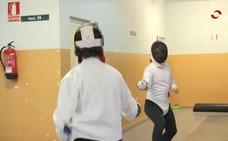TVR se cuela en un entrenamiento de esgrima