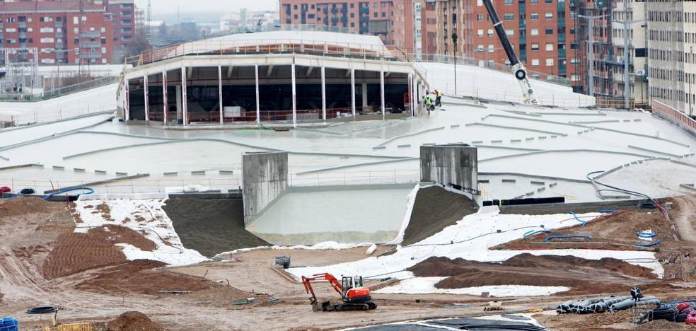 La nueva estación de autobuses de Logroño costará 1,5 millones más y su apertura se retrasa hasta otoño