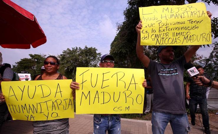 Los venezolanos quieren la ayuda «ya»
