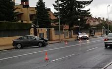Choca contra una farola en avenida de Madrid