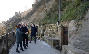 Concluyen las obras de estabilización de la ladera de Briones