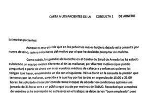 Los médicos del centro de salud de Arnedo piden ayuda a los ciudadanos en sus peticiones