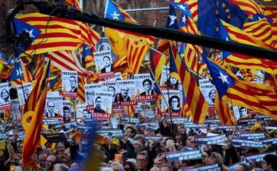 La manifestación contra el juicio del 'procés' reúne a 200.000 personas, según la Guardia Urbana