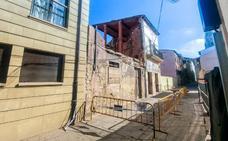 Cortada la calceatense calle Mayor por el peligro de derrumbe de un edificio