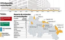 Un total de 283 pisos de protección edificados antes del año 2015 continúan sin comprador