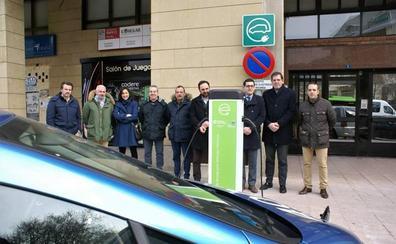 En marcha el punto de recarga para vehículos eléctricos en Nájera
