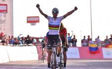 Alejandro Valverde consigue su primera victoria con el arcoíris