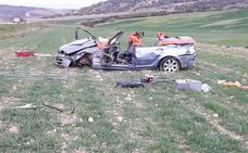 Un herido en una salida de vía en Pradejón