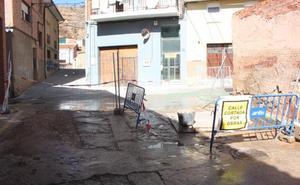 Arnedo reemplaza la canalización de las calles Frontón y San Pedro